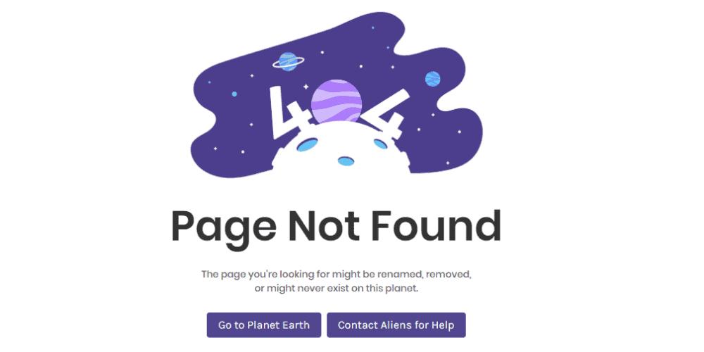 404 Error Page Design 1