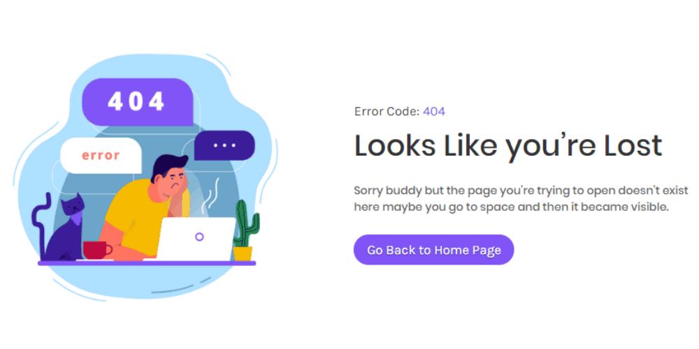 404 Error Page Design 2