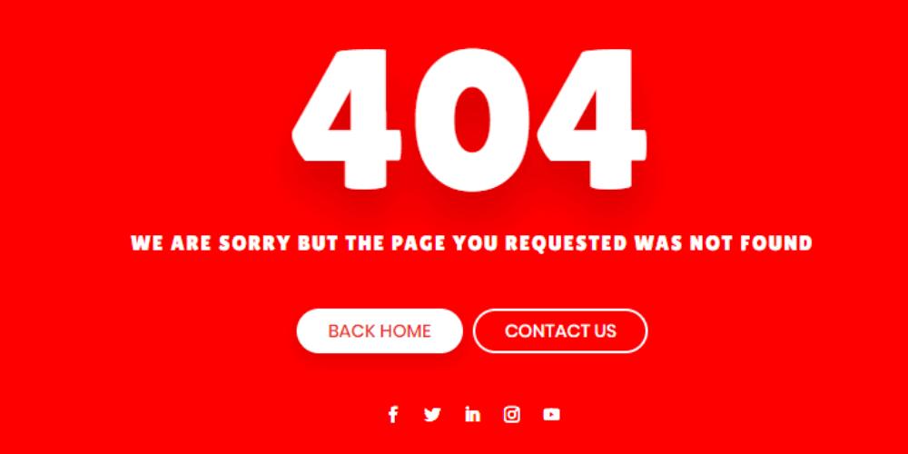 404 Error Page Design 3