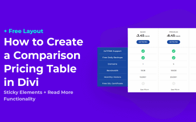 How to Create a Beautiful Comparison Pricing Table in Divi + Free Layout